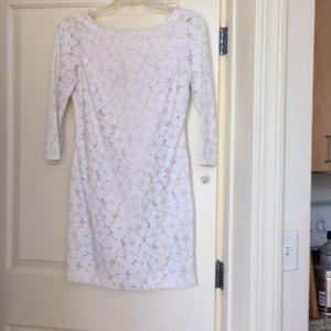 White lace Diane von Furstenberg dress. Size 8.
